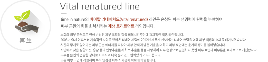 Vital renatured line